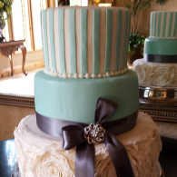 Fancy Turquoise Cake